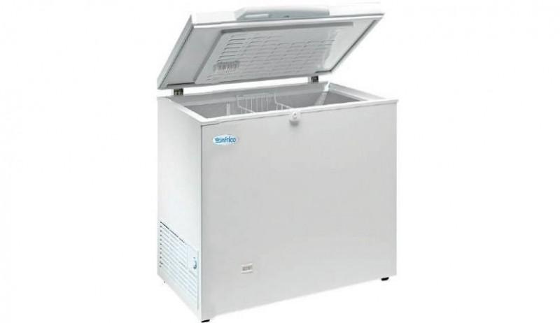 Arcón congelador de tapa abatible Infrico HF 240 AL