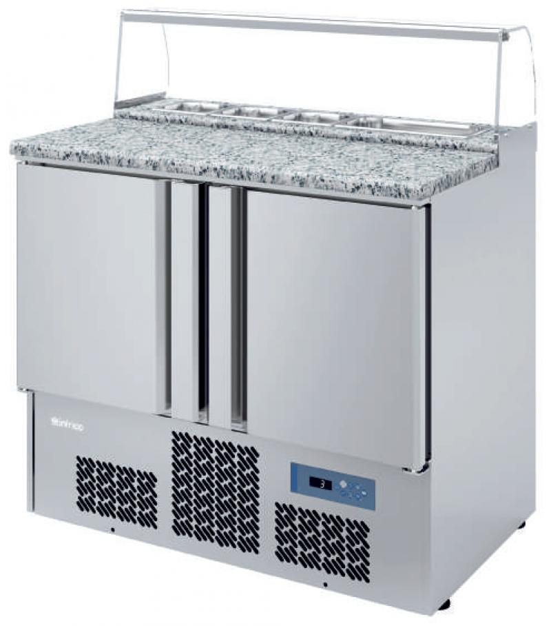 Mesa refrigerada para Ensalada Infrico ME 1000 PIZZA