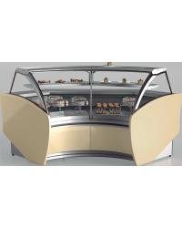 Vitrina pastelería Infrico Aries Ángulos frío ventilado modular VAR 45, VAR 90