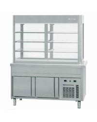 Vitrina refrigerada cuba fría Infrico SSCFFV con reserva refrigerada