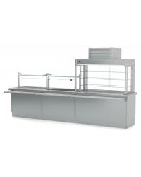 Vitrinas refrigeradas self abierta de tres niveles y placa fría Infrico SSPF