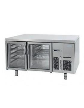 Mesa refrigerada pastelería Euronorma con puertas de Cristal serie 800 Infrico MR 1620 CR