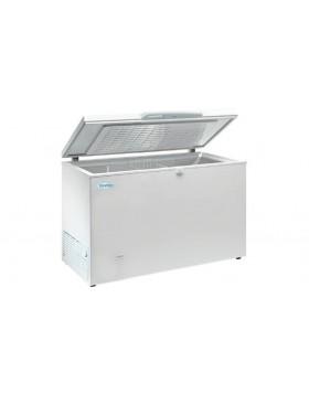 Arcon congelador de tapa abatible Infrico HF 400 AL