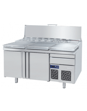 Mesa refrigerada para pizza Infrico modelo Lucena MPL 1740